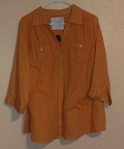 "Avenue sheer orange ""The favorite"" shirt"